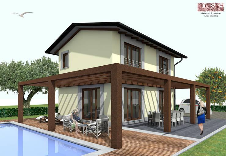 Casas de estilo  por davide strambi architetto