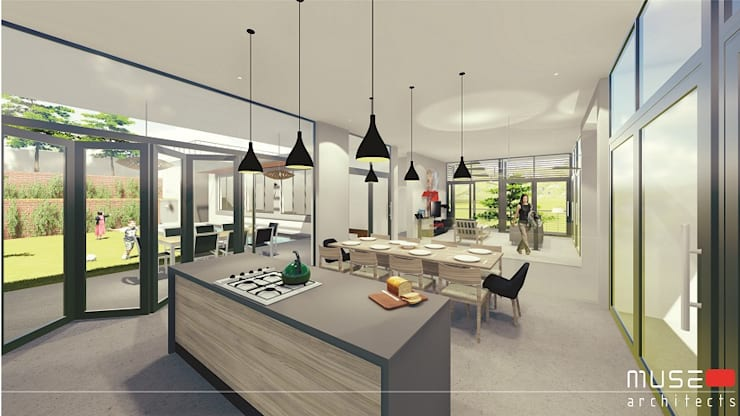 House Craanen: modern Kitchen by Muse Architects