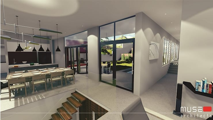 House Craanen:  Corridor & hallway by Muse Architects , Modern