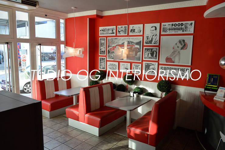 Restaurantes de estilo  por STUDIO OG INTERIORISMO