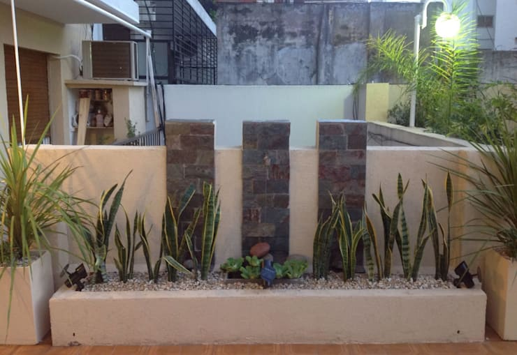 Terrazas y patios: Jardines de estilo  por DOMOS DECORACION HOLISTICA
