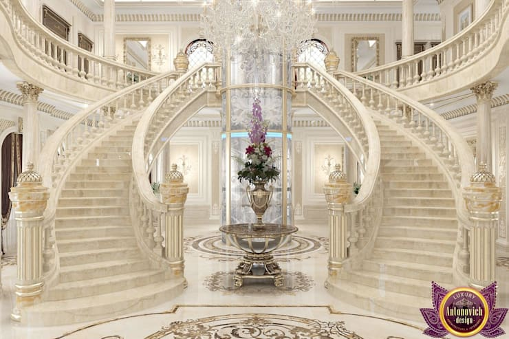 New era of luxury from Katrina Antonovich:  Corridor & hallway by Luxury Antonovich Design, Classic