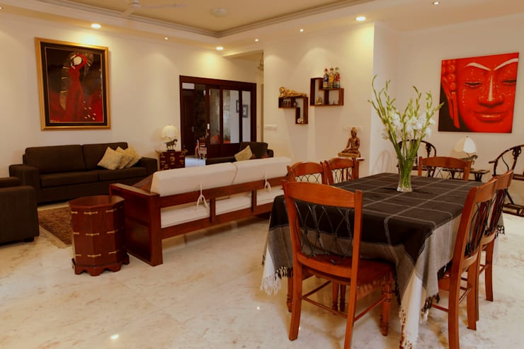 An apartment in Central Park 1, Gurgaon: modern Dining room by stonehenge designs