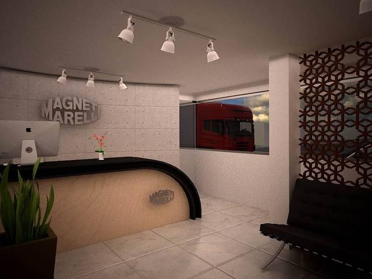 Estudios y oficinas de estilo  por H+R ARQUITECTOS