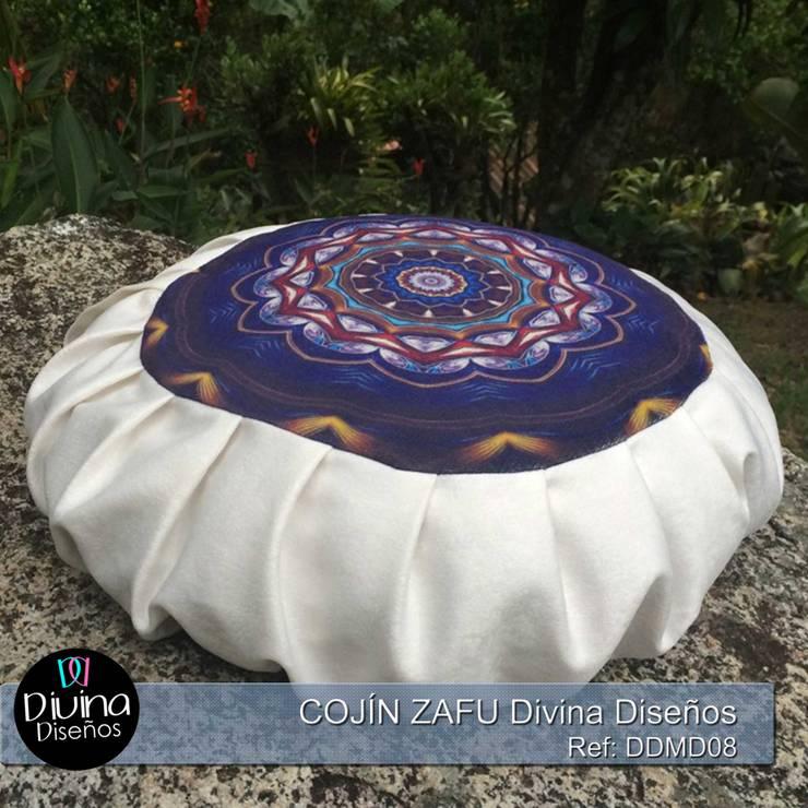 Cojín Zafu Mandala Serenidad: Hogar de estilo  por Divina Diseños Decoración