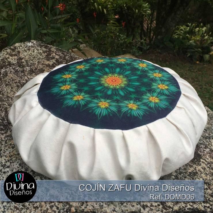 Cojín Zafu Mandala Vitalidad: Hogar de estilo  por Divina Diseños Decoración