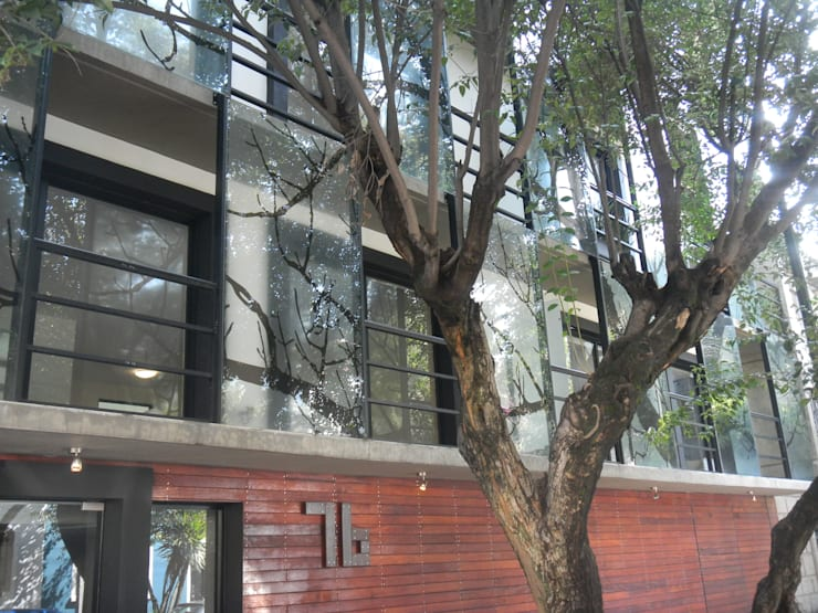 Casas de estilo  por HDA: ARQUITECTURA BIOCLIMATICA