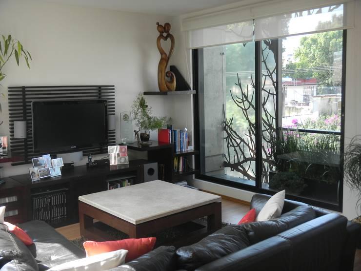 غرفة المعيشة تنفيذ HDA: ARQUITECTURA BIOCLIMATICA