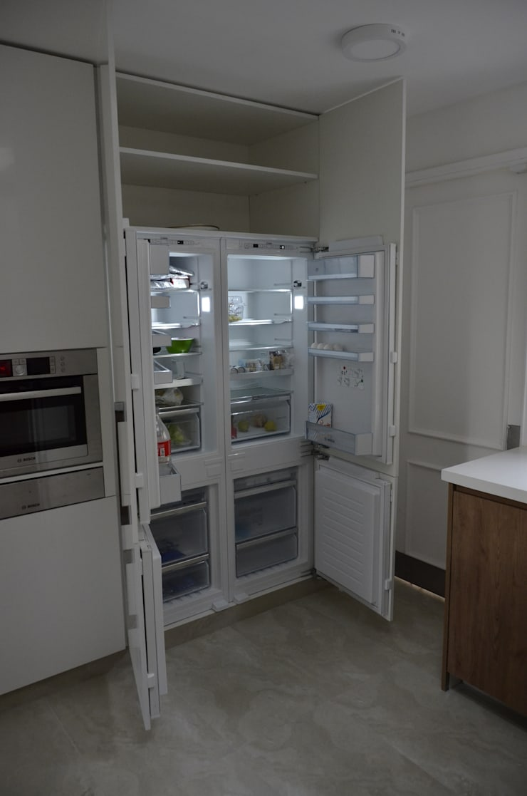 COCINA POZO –  LO BARNECHEA: Cocina de estilo  por Mobiliarios y Proyectos Tresmo Ltda