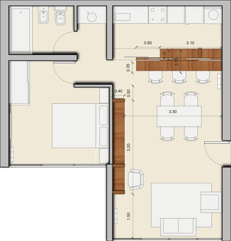 CASA NG: Casas de estilo  por Arquitecta Obadilla,