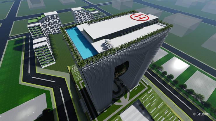 Architecture visualisation for APNRT Icon building:   by Srushti VIZ