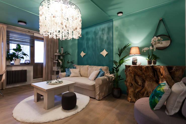 Projekty,  Salon zaprojektowane przez Artcrafts