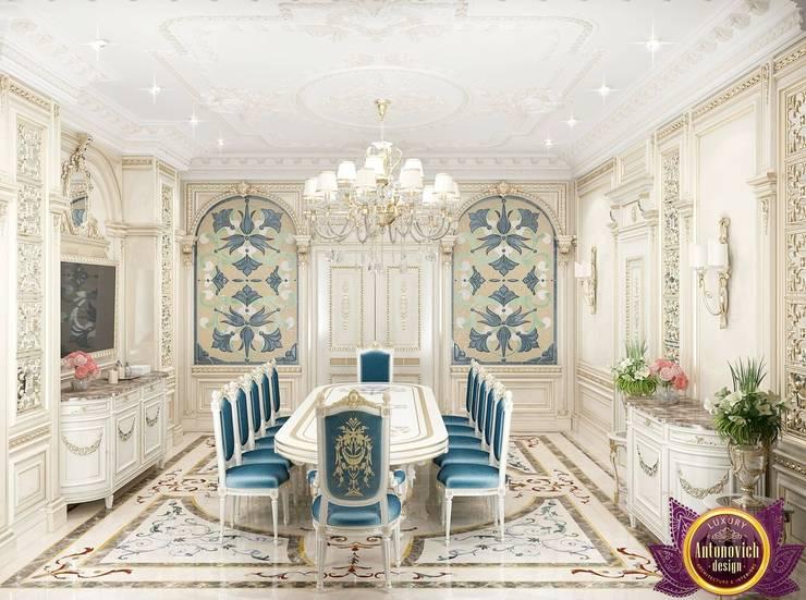 Dining room interior  design by Katrina Antonovich.:  Dining room by Luxury Antonovich Design