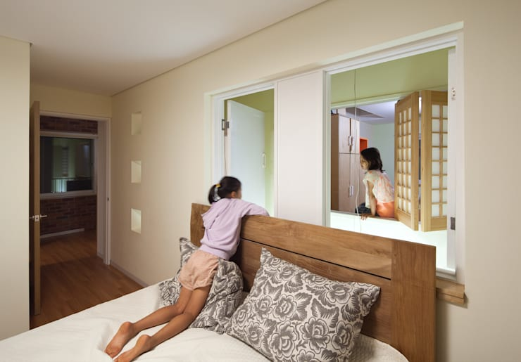 modern Nursery/kid's room by 남기봉건축사사무소