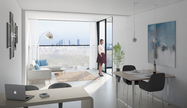 De Generaal:  Woonkamer door Mei architects and planners, Modern