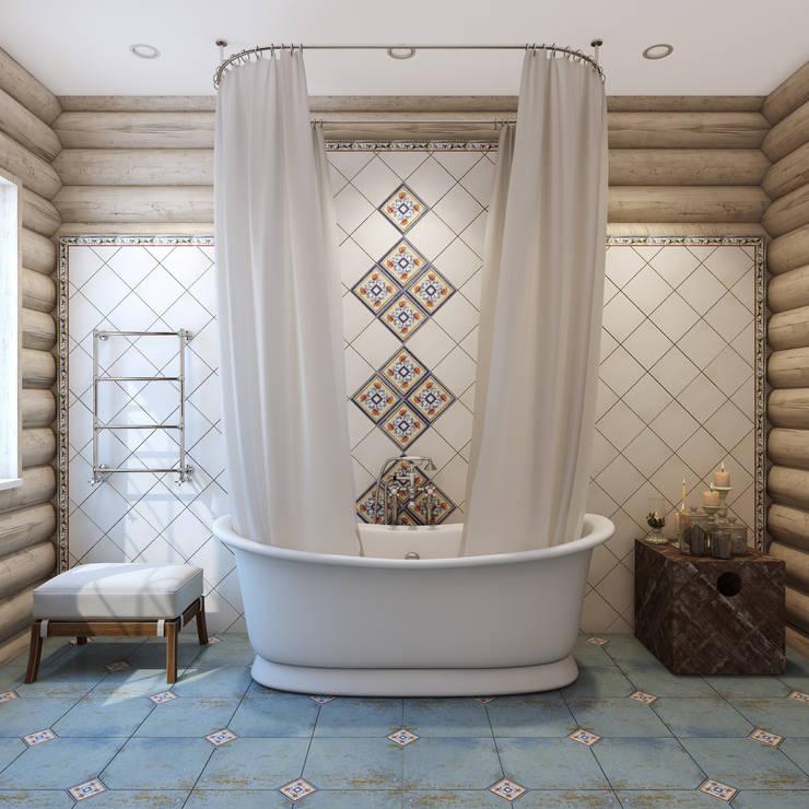 浴室 by Студия дизайна интерьера ART-Labs