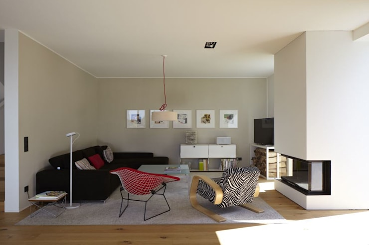 Living room by Falke Architekten