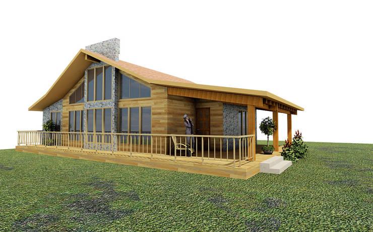 Casa de campo Tepotzotlan: Casas de estilo rústico por URBVEL Constructora e Inmobiliaria