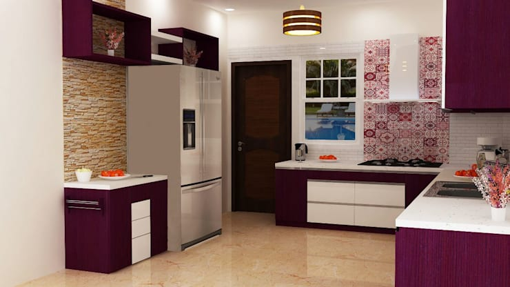 Omexe city: modern Kitchen by Anushri Interiors