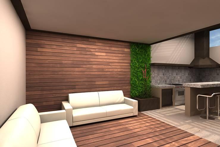 Patio RS: Terrazas de estilo  por Arstudio