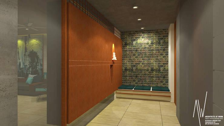 Interior of Ishwarbhai:  Corridor & hallway by Architects at Work,Modern