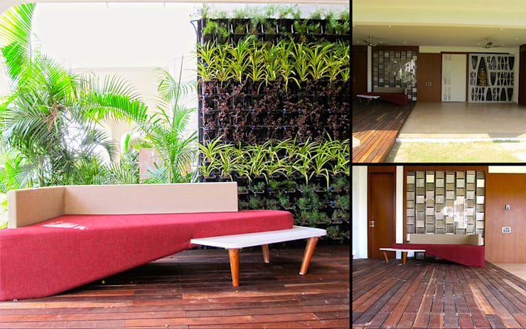 Interior of Rajesh Patel:  Garden by Architects at Work
