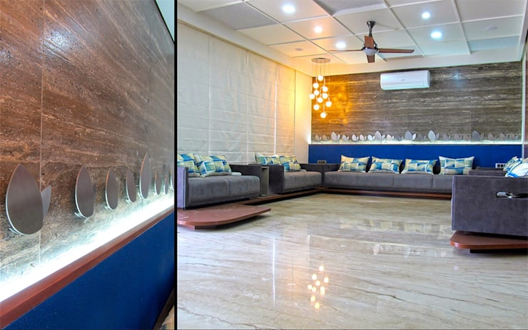 Interior of Rajesh Patel:  Living room by Architects at Work