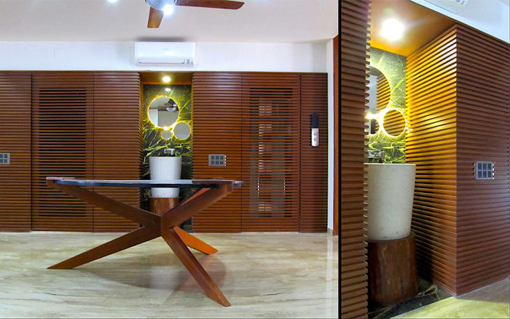 Interior of Rajesh Patel:  Dining room by Architects at Work