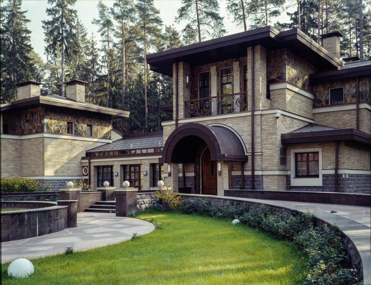 Архитектурный декор «Листья»: Дома в . Автор – ООО 'Арт-керамика Владимира Ковалева'