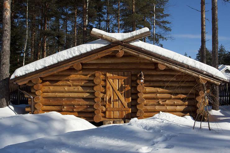 Дровник: Дома в . Автор – Техно-сруб, Классический Дерево Эффект древесины