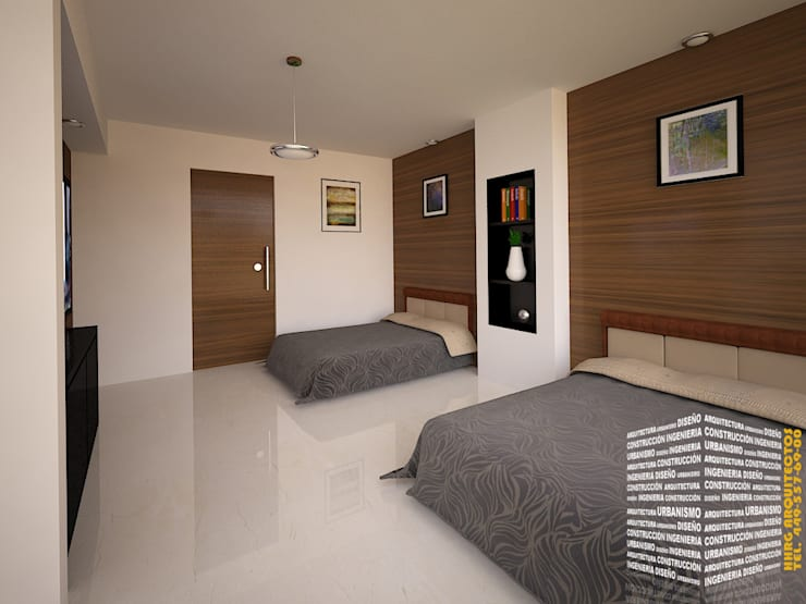 Bedroom by HHRG ARQUITECTOS, Modern