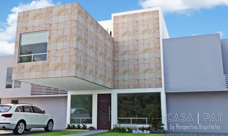 Casa PAT: Casas de estilo  por Perspectiva Arquitectos México