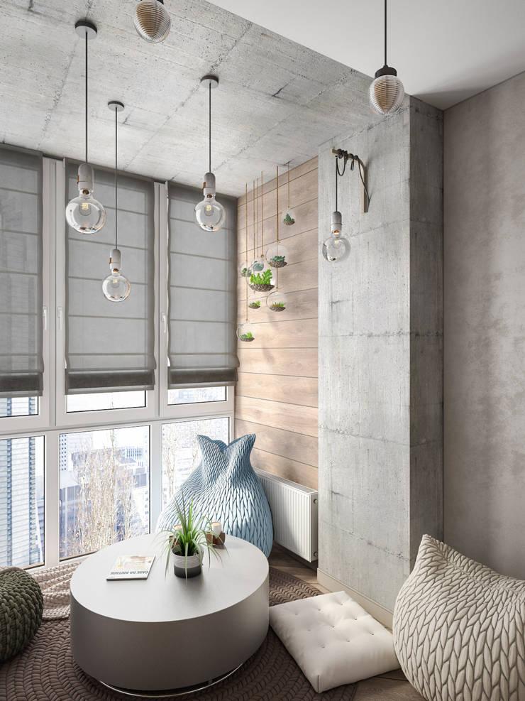 Salon de style  par Tatiana Zaitseva Design Studio,