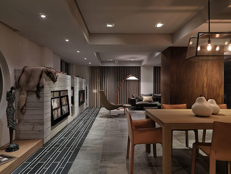 Living room by 沈志忠聯合設計,