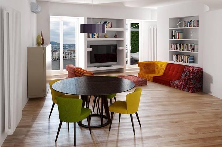 Salas / recibidores de estilo moderno por T+T ARCHITETTURA