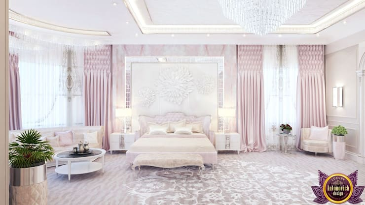 ​  Luxurious bedroom interior of Katrina Antonovich:  Bedroom by Luxury Antonovich Design, Modern
