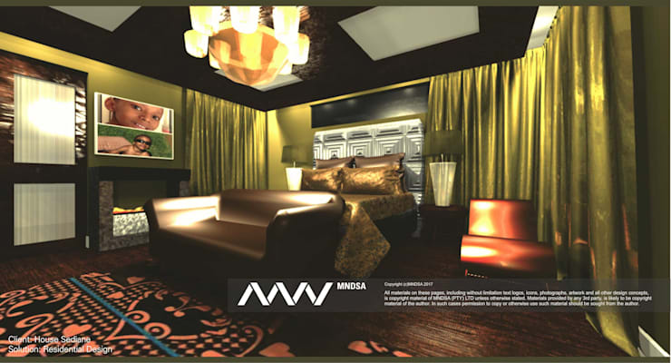 House Sediane Interior design perspective concept:   by MNDSA Environmental