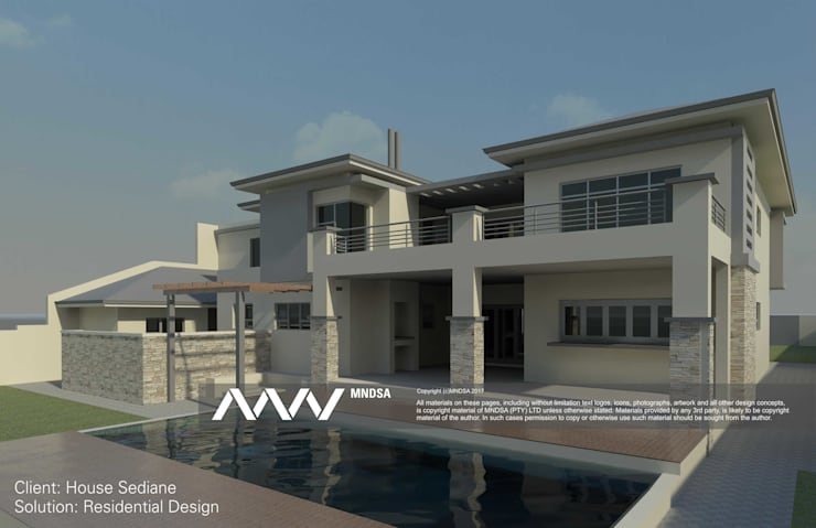 House Sediane Perspective View:   by MNDSA Environmental