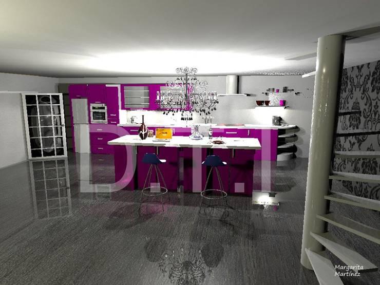Cocina-salón:  de estilo  de Diseña tu interior