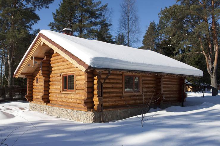 Баня: Дома в . Автор – Техно-сруб, Классический Дерево Эффект древесины