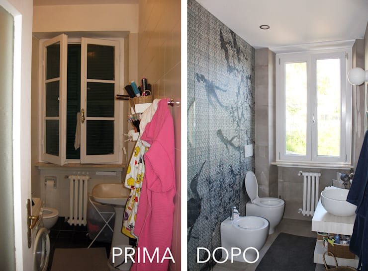 Il Bagno Principale PRIMA / DOPO:  in stile  di redesign lab