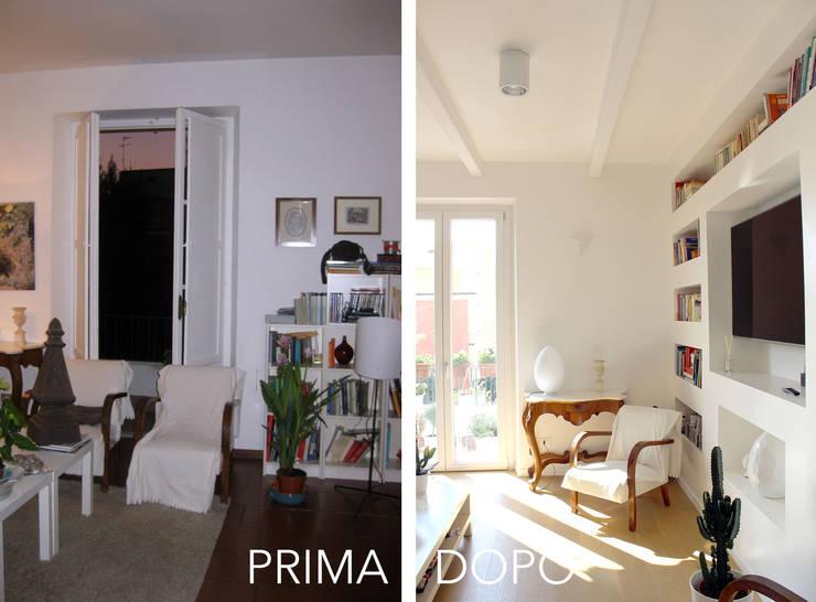 Il Salotto PRIMA / DOPO:  in stile  di redesign lab