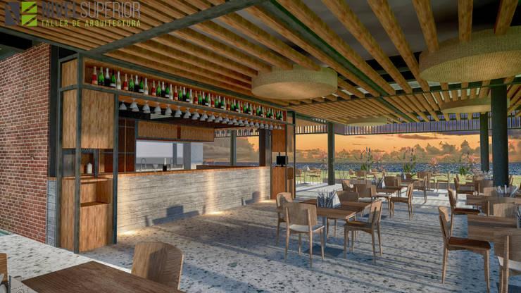 RESTAURANTE - HOTEL : Habitaciones de estilo  por NIVEL SUPERIOR taller de arquitectura ,