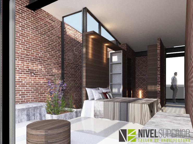 RESTAURANTE – HOTEL : Habitaciones de estilo  por NIVEL SUPERIOR taller de arquitectura ,