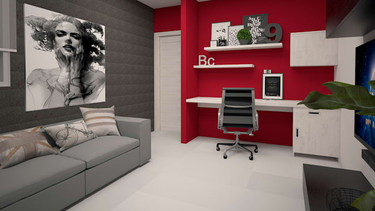 Media room by CONTRASTE INTERIOR, Modern