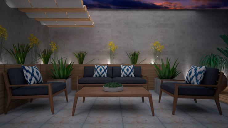 Patios & Decks by CONTRASTE INTERIOR, Modern