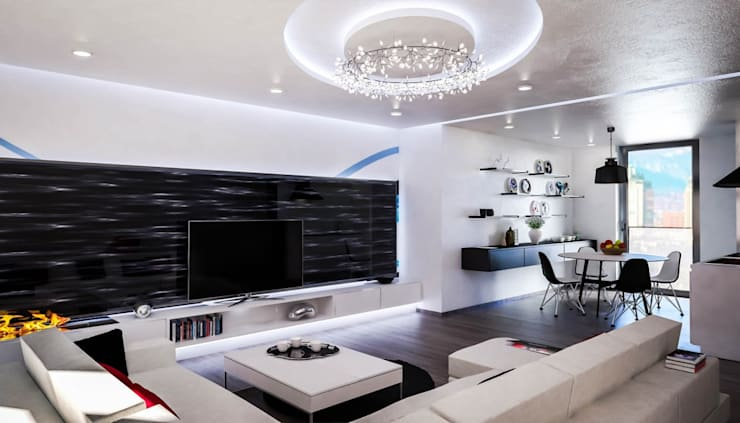 Living room by Denis Confalonieri - Interiors & Architecture