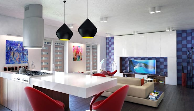 غرفة السفرة تنفيذ Denis Confalonieri - Interiors & Architecture