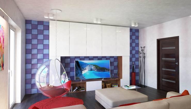 غرفة المعيشة تنفيذ Denis Confalonieri - Interiors & Architecture