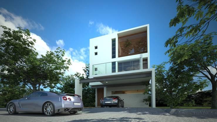 Casas de estilo minimalista por sanmartiarquitectos